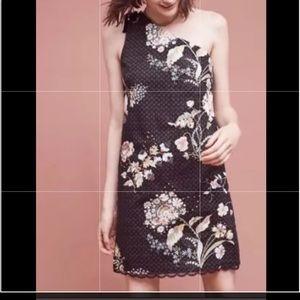 NWT Maeve Ashbury Black One Shoulder Dress Size 14